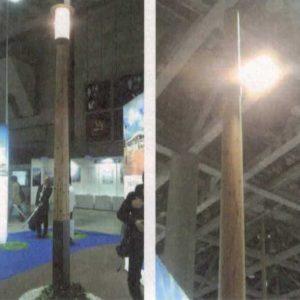木製照明柱